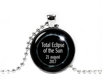 Solar Eclipse Necklace Eclipse of the Sun Pendant Eclipse 2017 Total Solar Eclipse Necklace  Sun Eclipse Jewelry