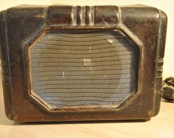 Soviet vintage old radio . USSR