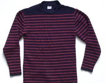 Vtg Saint James breton nautical striped sweater vintage 80s 90s binic