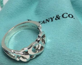 TIFFANY & CO ploma picssso sterling silver hearts ring