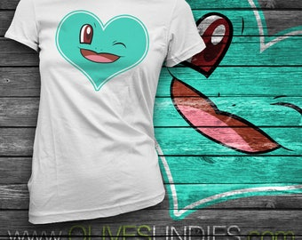 Squirtle Heart Face and Tail T-Shirt