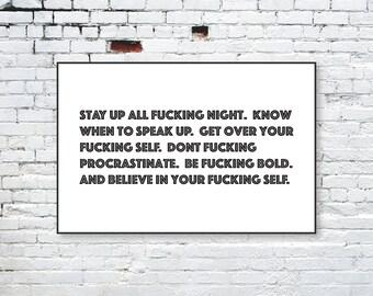 Believe in Yourself - Motivational - Handmade Print
