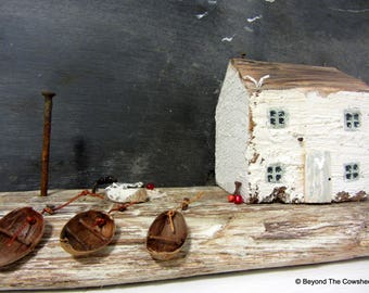 White house driftwood cottage