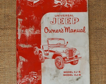 Vintage Universal JEEP Owner's Manual 1959 CJ-5 & CJ-6