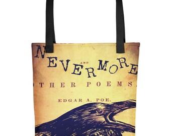 The Raven Edgar Allan Poe Tote bag