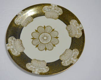 Intricate Black and Gold Plate Made in Bavaria