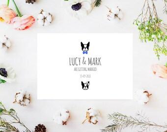 French Bulldog Wedding Invitation, French Bulldog Invite, French Bulldog Invitation, Frenchie Invite, Dog Invites, Wedding Invites