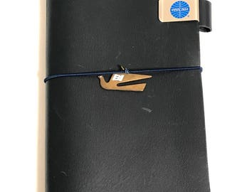 Used Traveler's Notebook Blue Edition Leather Cover Regular size 2015 Limited-edition Color and Bonus (Pan Am Set ) Rare Don't Miss!