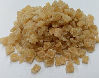 Crystallised Ginger, Premium Quality, UK Based, Free P&P within the UK