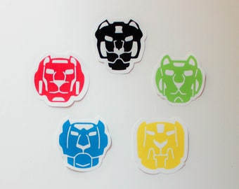"""2.5"""" - 3"""" Voltron Legendary Defender Lion Paladin Stickers   Glossy High Quality Stickers   Party Favors   KeikiiArt"""
