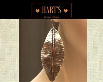Leaf 14K Gold Dangle Earrings