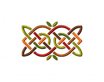 Celtic knot autumn fall embroidery design
