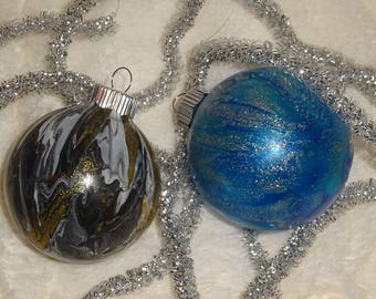 Create Your Own Customized Marbled/Swirl Ornament With Gift Box Included