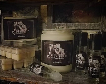 Anthophobia-The fear of flowers, Frosted Glass 8 oz candle