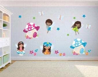 Kids Bedroom Wall Decor fairy wall decal | etsy