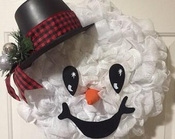 Snowman Wreath (#0339)