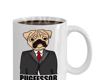 Pugfessor Funny Pug Dog Lovers Gift Mug