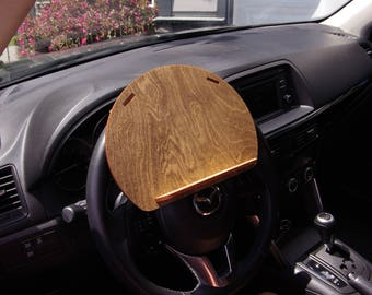 Wood Tablet Holder, Car Accessories, Tablet Caddy, Cell Phone Holder, Laser Cut, Rustic, Steering Wheel, Vehicle Accessories, Phone,   SG15