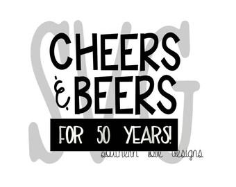 CHEERS & BEERS SVG