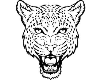 Cheetah #8 Leopard Jaguar Wild Cat Spots Wildlife Wild Animal Zoo Mascot Logo .SVG .EPS .PNG Digital Clipart Vector Cricut Cut Cutting File
