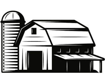 Farm Farmer Farming Agriculture Organic Food Silo Barn Stable Logo Label .SVG .EPS .PNG Digital Clipart Vector Cricut Cut Cutting Download