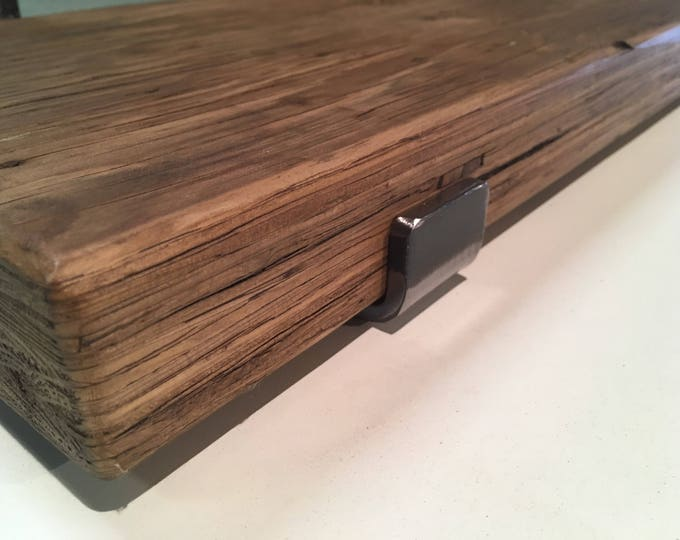Chunky reclaimed ply scaffold shelves with brackets and fixings / 240mm x 45mm / reclaimed wood shelves / FREE UK DELIVERY