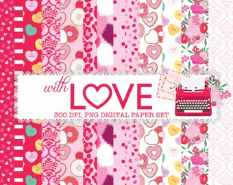 With LOVE Digital Paper set,