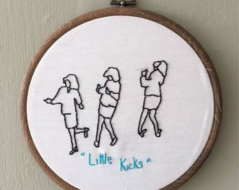 Little Kicks Embroidery Hoop Art