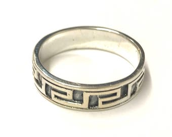 Sterling Silver Greek Style Ring