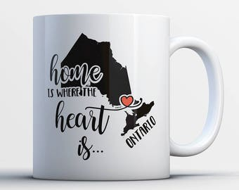 Ontario Coffee Mug - Heart Is In Ontario - Ontario Province Gifts - Ontario Canada - Best Ontario State Gift - From Ontario