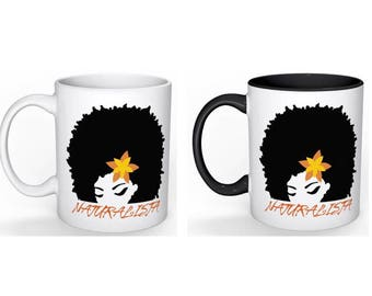 NATURALISTA Coffee Mugs with choice of colored handle and interior or plain