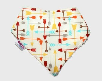 Baby Bandana Bib Arrows Yellow