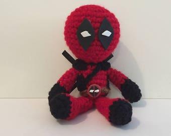Deadpool Amigurumi Crochet Doll
