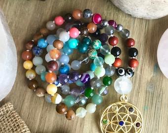 Mala Beads // Chakra Mala // 108 Bead Mala // Chakras // Meditation