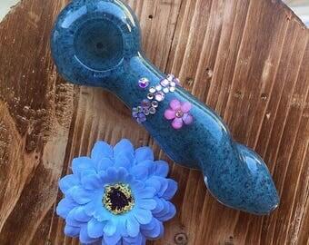 Flower Gem Smoking Pipe