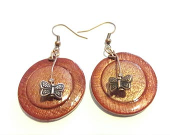 Dangle earrings copper/gold collection