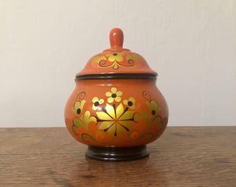 Russian Painted Wooden Container