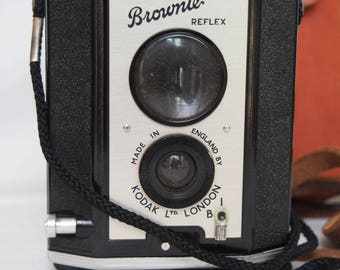 Kodak Brownie Reflex Camera with Case