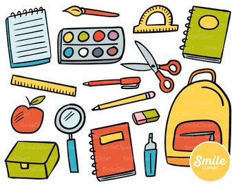 Doodle Back to School Clipart Illustration for Commercial Use   0501
