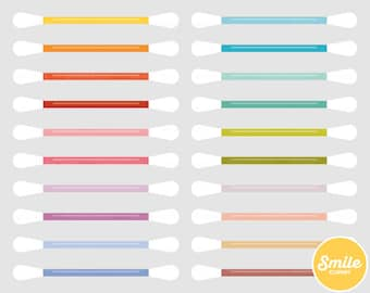 Cotton Swab Clipart Illustration for Commercial Use | 0559