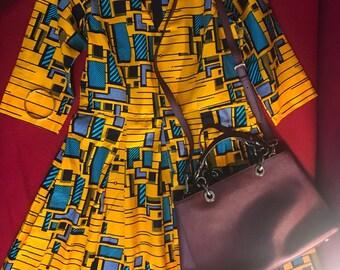 African evening gown, African dress, Mini dress, Ankara, African clothing, african dress, wedding dress african wax dress