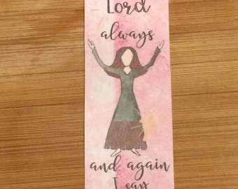 Bible Verse Bookmark - Philippians 4:4 -  handmade WITHOUT tassel  (stock #24)