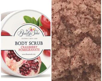 Cranberry Pomegranate Organic Body Scrub - 12 oz