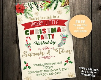 Christmas Party Invitation, Christmas Party, Christmas Party Invite, Christmas Invitation Vintage, Christmas Invitation printable Holiday