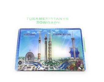 Turkmenistan Ashgabat Tourist Travel Fridge Magnet