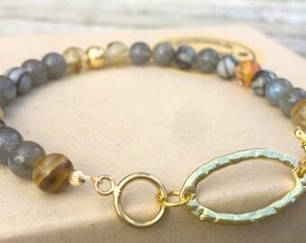 Gold and Beaded bracelet