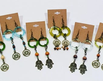 Redycled bottle earrings