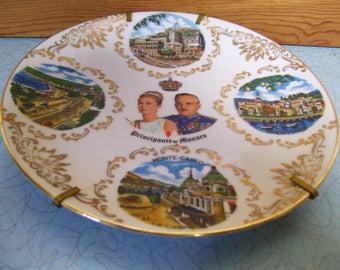 Vintage Principaute de Monaco plate.