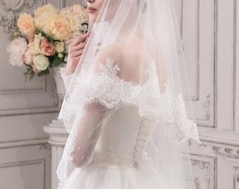 Handmade Wedding  Lace  Veil ''Jane''
