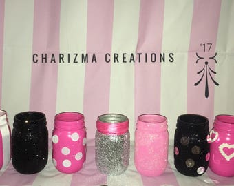 Victoria's Secret inspired Mason jars